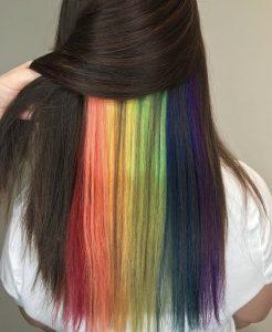 Peekaboo rainbow hair - Cary, NC